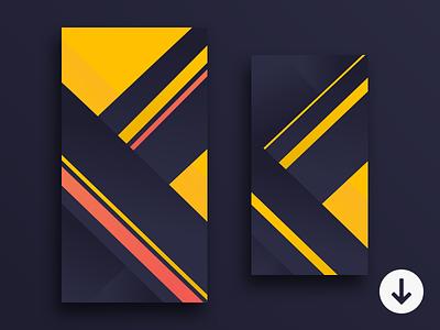 Geometric wallpapers {free} bright design dark flat iphone geometric free wallpaper