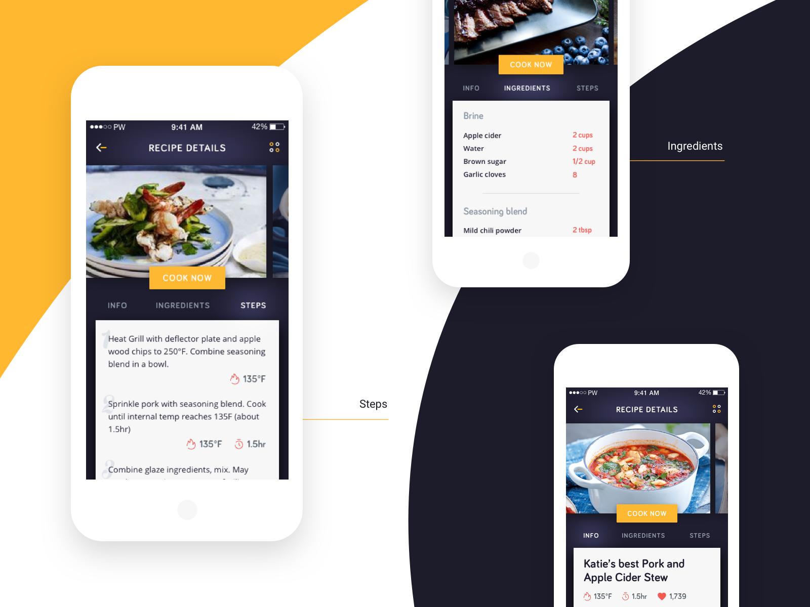 Cooking app 2x