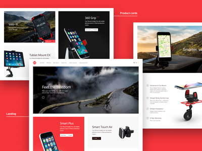 OSO landing page and e-commerce website holder home page banner card adobe xd store shop product landing design e commerce shopify