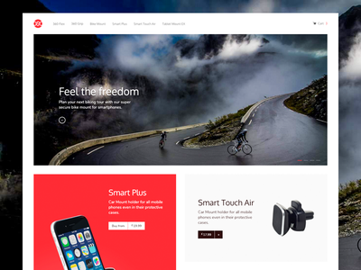 Close-up of OSO landing page shopify e commerce design landing product shop store adobe xd card banner home page holder