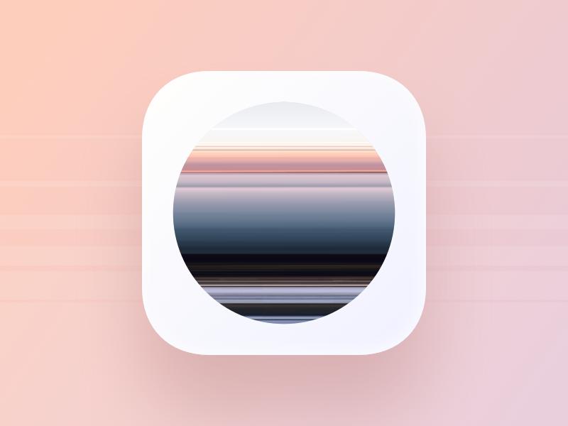 Poloska app icon glitch filter video editor development design ux ui app photo