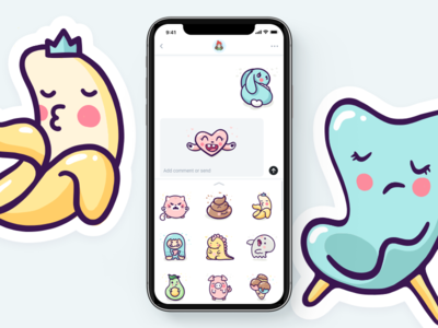 Enjoy the Cuteness sticker pack! ipad pro illustration cute design extension app text chat imessage messages pack sticker