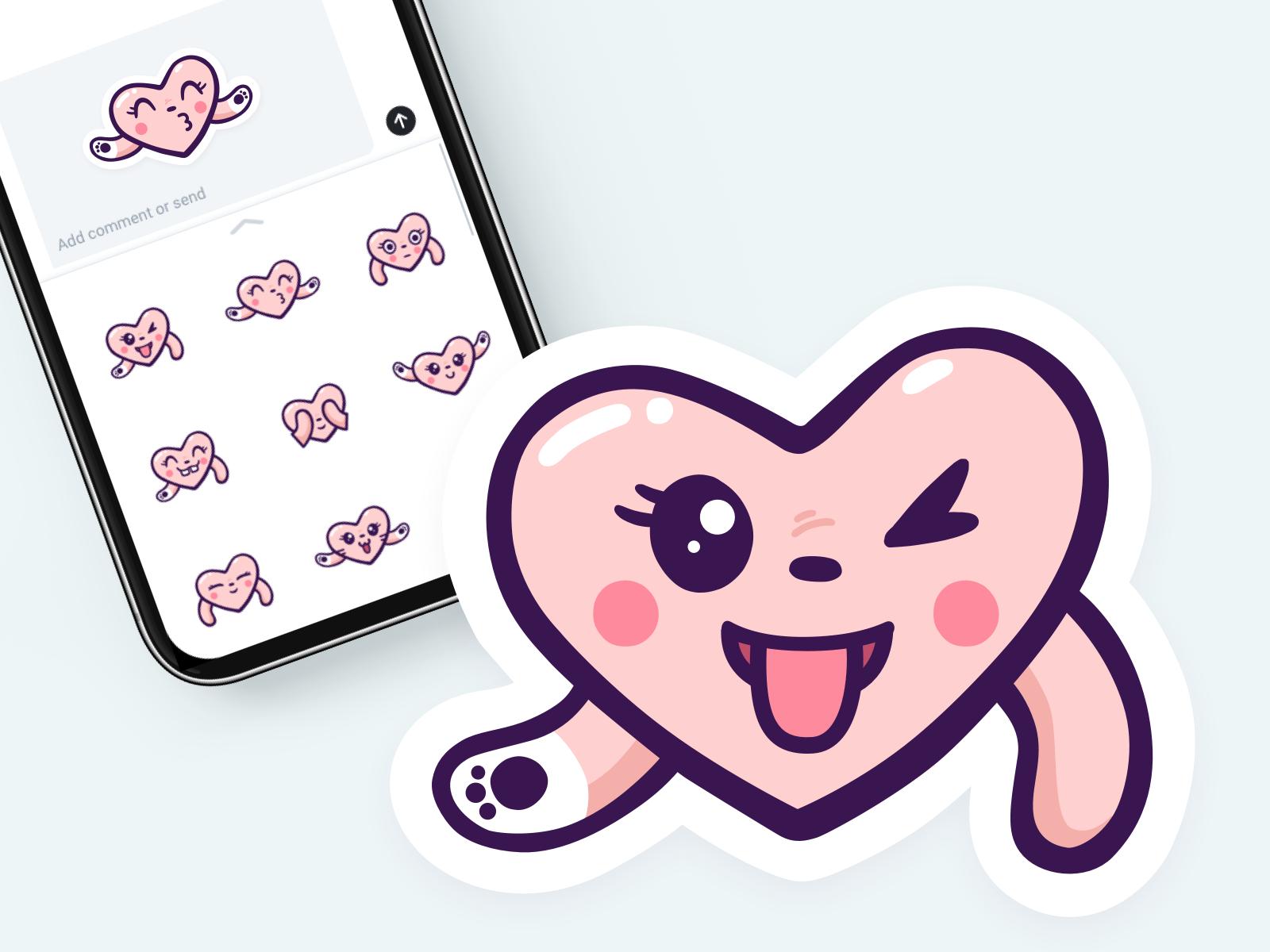Stickers adorable heart maria shanina