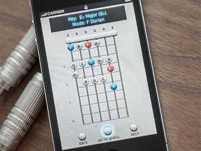 Guitar App guitar music ios app iphone chord amplifier mobile spb fretboard russia interface ui photo button skeuomorphism