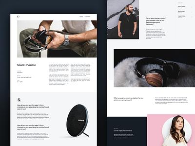 Success story figma story webpage website webdesign minimal photography blog article design ui ux web