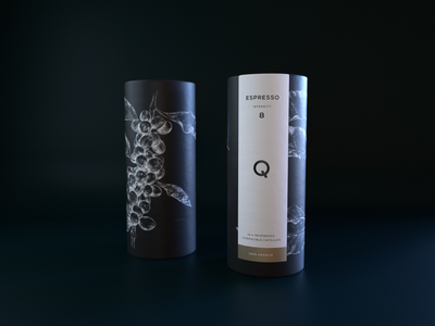 Coffee packaging design and illustration
