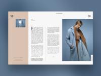 Fashion editorial page