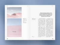 Climate and environment. Magazine spread