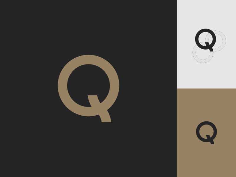Q logo minimal gold creative direction identity branding coffee packaging brand q typography icon logo design