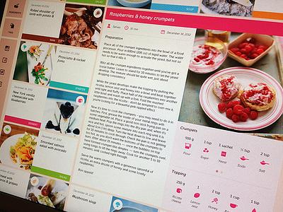 Food blog cook book icon food web blog cooking recipe design icons metro responsive grid minimal freebie free