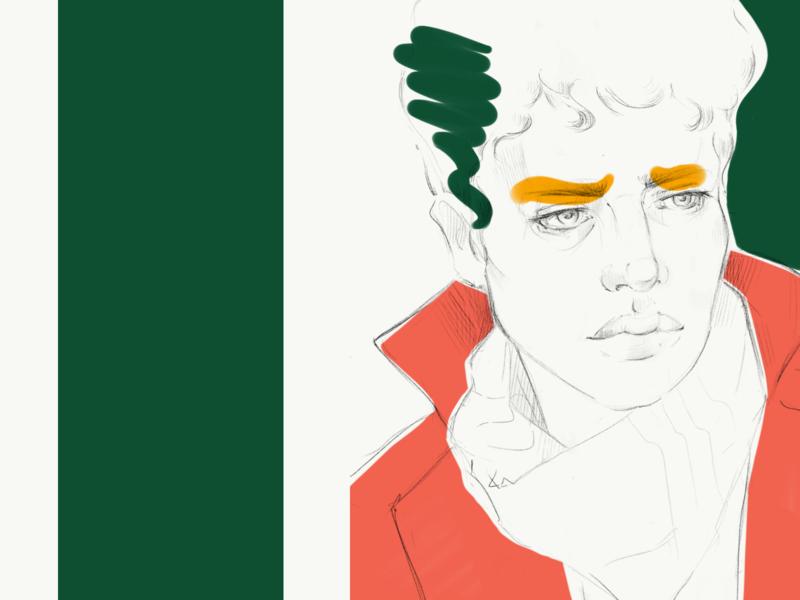 Portrait series. No.3 design sketch pencil procreate artwork poster art poster portrait minimal art drawing illustration