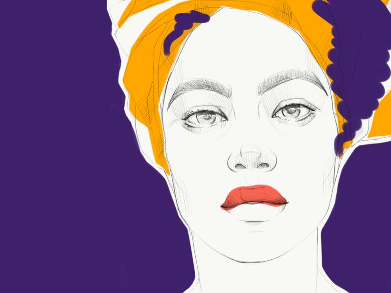 Portrait series. No.5 sketch pencil art procreate woman poster art poster portrait face drawing digital illustration digital art digital artwork art illustration