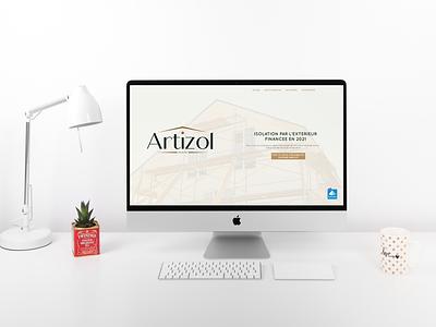 Creation of the artizol.fr website color freelancer website design website