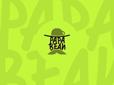 Papa Bean Concept Logo branding graphic design design minimalist minimal logodesign logo illustrator flat creative