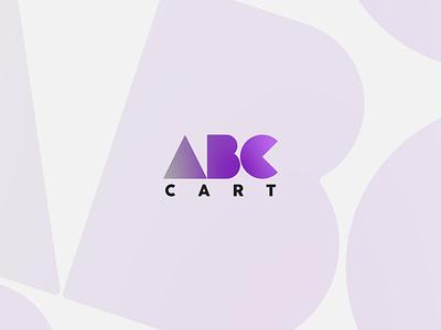 ABC Cart Logo branding graphic design design minimalist minimal logodesign logo illustrator flat creative