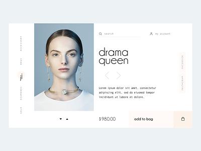 Product showcase card sketch ecommerce fashion ux ui