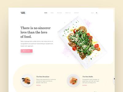 Restaurant landing page page landing website design visual ux ui restaurant