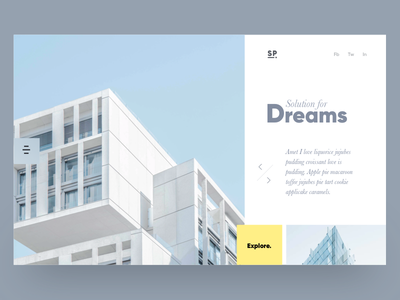 Architecture carousel card sketch grid layout website ux ui