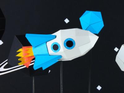 Urlist papercraft rocket papercraft video startup space