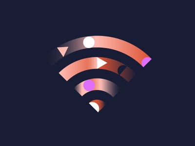Gradient wifi icon website illustration abstract geometry gradient logo gradient wifi app icon ux vector branding ui logo design shapes illustration illo