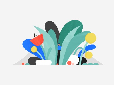 Looking for something? 🌿 nature spring flower search environment plant character design texture design geometry character color shapes illustration illo