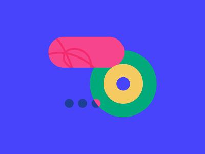 Chat bots & Voice assistants branding voice assistant voice chatbot icon geometric geometry logo design color flat vector shapes illustration illo