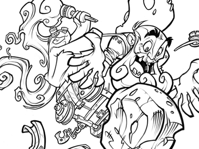 New project! cartoon concept game illustration character ink gold mine