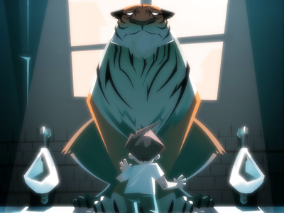 Here There Be Tygers illustration vector kid tiger