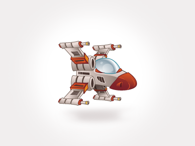 Xwing vector x-wing spaceship icon game
