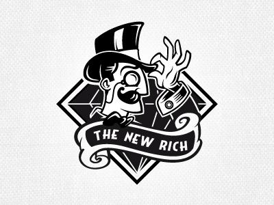 The New Rich logo gentleman rich