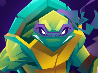 Tmnt turtle hero character design tmnt donatello illustration vector cartoon teenage mutant ninja turtles