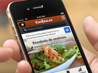 Cocina.es mobile layout - Final