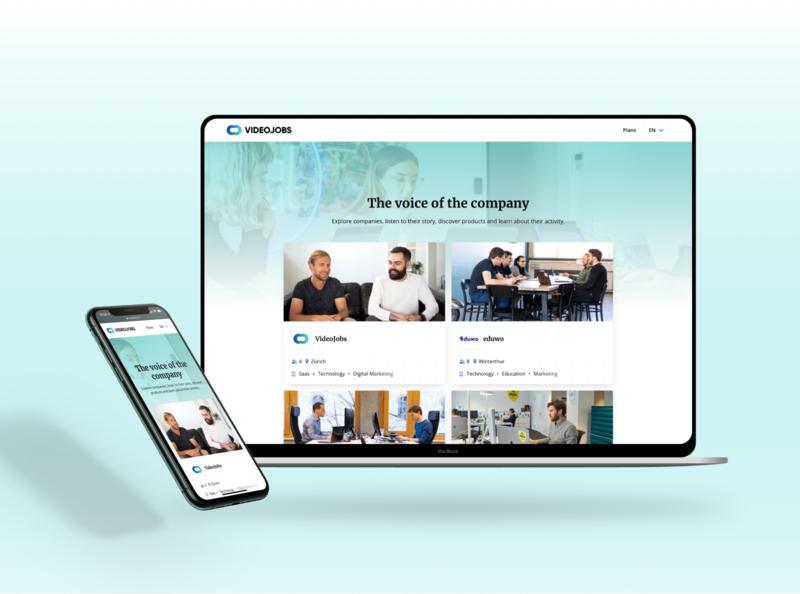 VideoJobs v.2.0 video jobs clean design website webdesign responsive interface ui web
