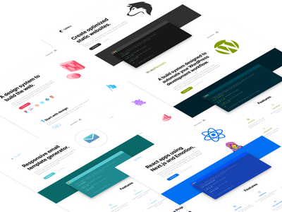 A set of Landing Pages and Documentation Websites design system react email fuzzymail gopablo wordpressify wordpress clean development code web design landing design landingpage typography website webdesign responsive interface ui web