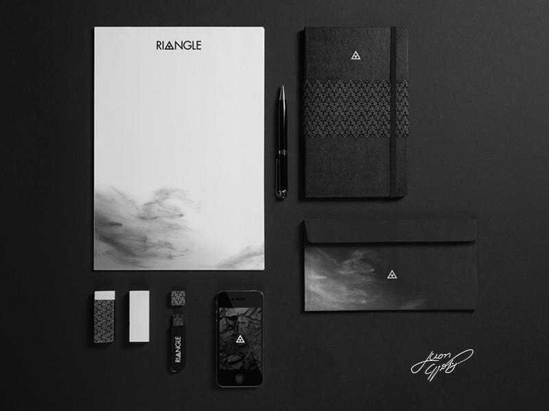 Personal Identity black geometry riangle branding identity