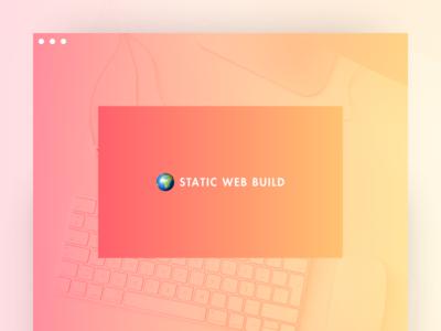 Static Web Build - Landing Page web user interface ui web design landing page