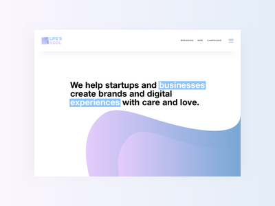 Life's Kool 😎 landing gradients interaction web ux ui website