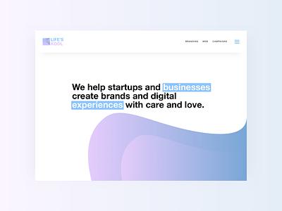 Life's Kool 😎 landing gradients interaction web ux ui website