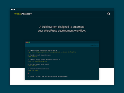WordPressify interface dark solarized ui ux docs documentation responsive web wordpress