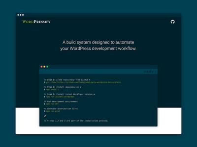 WordPressify interface dark solarized ui ux docs documentation responsive web wordpress