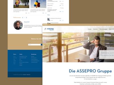 Broker Group - Website corporate insurance clean webdesign web responsive simple website