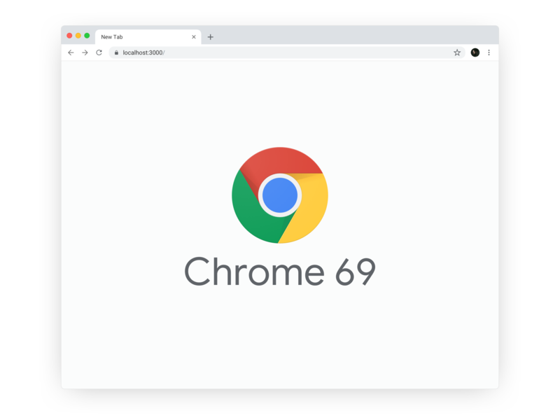 Google Chrome 69 Sketch Template/Mockup