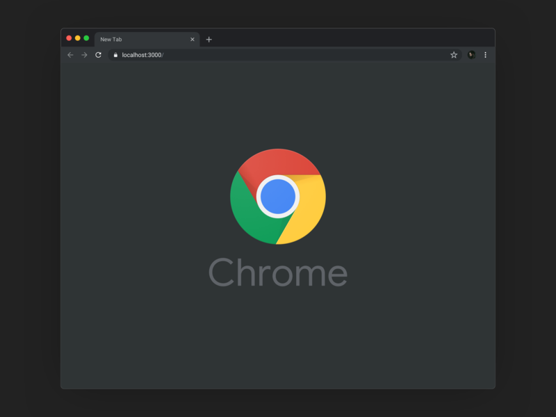 Google Chrome Dark Mode interface ui chrome google browser sketch template clean minimal mockup download download free macosx mac darkmode dark mockup