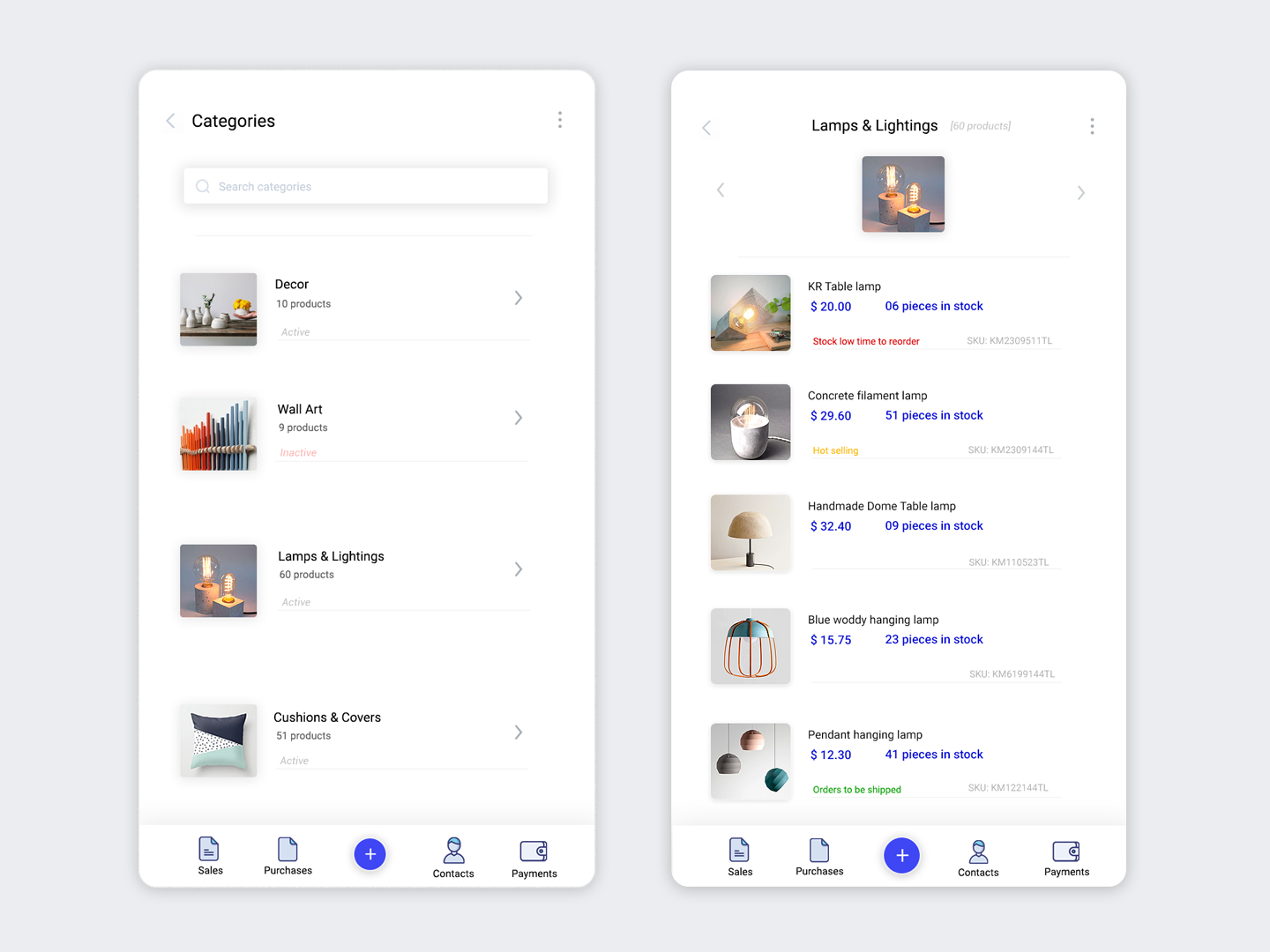 Categories products ui app design by Puneet Mehta on Dribbble