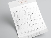 MAYFIVE Service list flyer