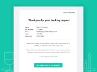 Email template – Booking request