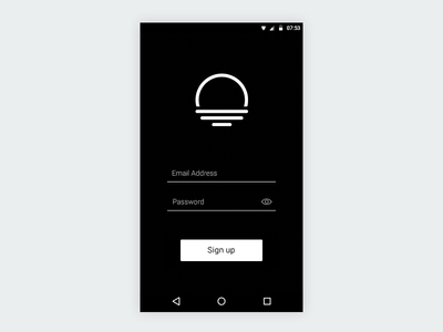 Day 001 - Sign up signup android mobile ui