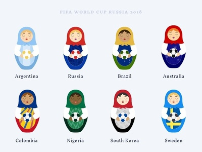 2018 World Cup Dolls