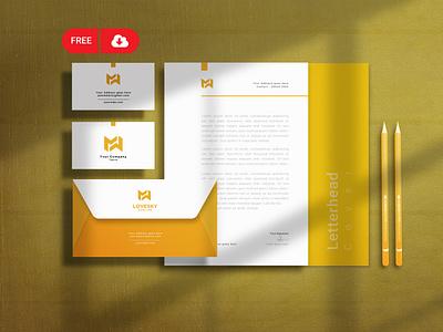 Free Downoad Stationery Mockup Design brading mockup freebie free logo mockup freebies freebie psd free statinery mockup free mockup free download
