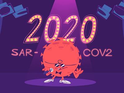 WIT THE SERIES EPISODE 01 :Keyvisual corona virus animation characterdesign keyvisual covid-19 coronavirus stylized illustrations illustration